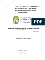 Investigación de fuerzas de atracción en polímeros, estructura química de polímeros