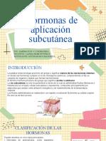 Hormonas de aplicación subcutánea Diapositivas