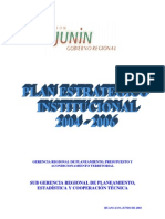 Plan estrategico Junin