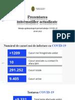 Raportul COVID-19 privind Situația Epidemiologică la 28 septembrie 2021 (ora 17:00):