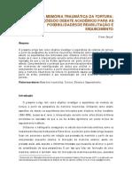 Trauma e Memória - Ditadura