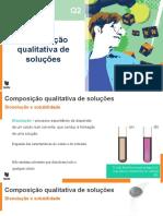 Composição qualitativa de soluções