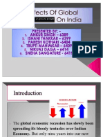 Effects Of Global recession on India
