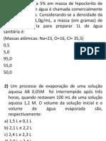 quimica 2º ano PDF - EXERCÍCIOS SOLUÇÕES