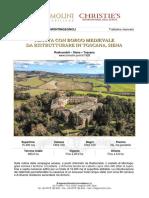 Castillo Montingegnol en la Toscana, Italia.