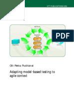 Agile for Model Based Testing