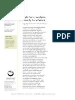 Example Poetry Analysis