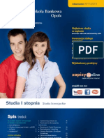 Informator 2011 - Studia I Stopnia Wyższa Szkoła Bankowa we Wrocławiu Wydział Ekonomiczny w Opolu