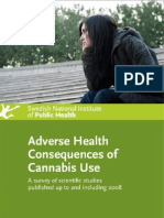 Swiss Study - Adverse Health Consequences Cannabis Use