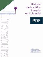 Historia de La Crítica Literaria