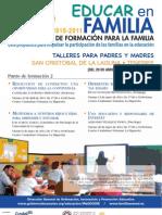 PLAN CANARIO DE FORMACIÓN PARA LA FAMILIA - EDUCAR EN FAMILIA - LA LAGUNA-LA HIGUERITA