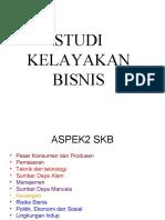 Aspek Aspek STUDI KELAYAKAN BISNIS