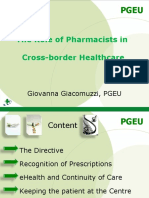 5th European Patients' rights day - Giovanna Giacomuzzi, Pharmaceutical Group of the European Union