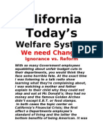 California today's Welfare System