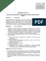 Ordenanza Fiscal nº 55-2011-Reguladora del impuesto sobre construcciones, instalaciones y obras. (1)