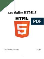 Les Balise HTML5