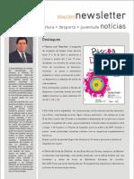 Newsletter do Departamento de Cultura, Desporto e Juventude - Abril 2011
