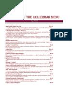 The Kellerbar Menu