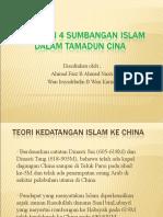 Nyatakan 4 sumbangan Islam dalam tamadun Cina