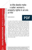How Title Deeds Make Sex Safer: Women's property rights in an era of HIV