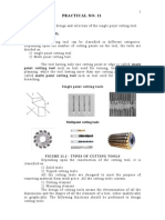 design and selection of single and multipoint cutting tool