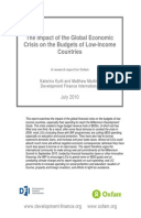 The Impact of the Global Economic Crisis on the Budgets of Low-Income Countries: A research report for Oxfam