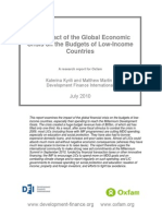 The Impact of the Global Economic Crisis on the Budgets of Low-Income Countries