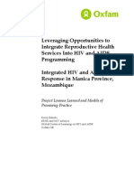 Leveraging Opportunities to Integrate Reproductive Health Services Into HIV and AIDS Programming