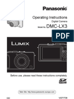 Panasonic LX3 User Manual