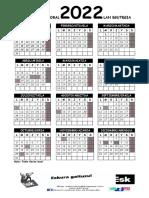 Calendario 2022 Comercio