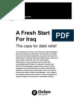 A Fresh Start For Iraq