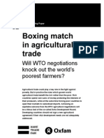 Boxing Match in Agricultural Trade