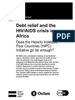 Debt Relief and the HIV/AIDS Crisis in Africa