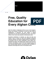 Free, Quality Education for every Afghan Child