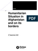 Humanitarian Situation in Afghanistan and on its Borders