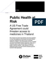 Public Health at Risk