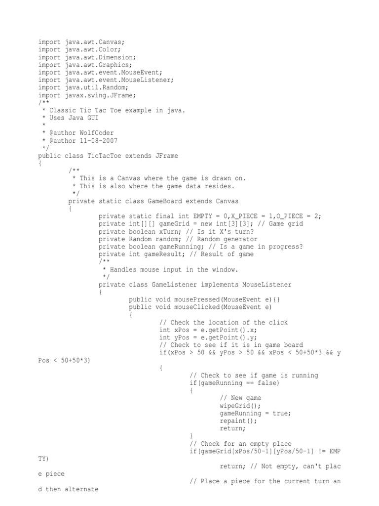 tictactoe | Computer Engineering | Software Engineering