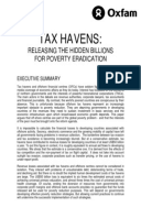 Tax Havens: Releasing the hidden billions for poverty eradication