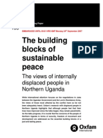 The Building Blocks of Sustainable Peace