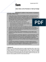 The Provision of Aid by Foreign Military Forces