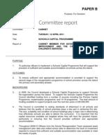April Cabinet Paper B