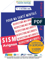 Programme des Semaines d'Information sur la Santé Mentale d'Avignon et du Vaucluse 2021.