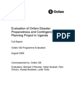 Evaluation of Oxfam Disaster Preparedness and Contingency Planning Project in Uganda