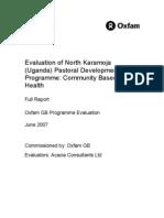 Evaluation of North Karamoja (Uganda) Pastoral Development Programme