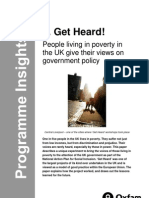 Get Heard! People living in poverty in the UK give their views on government policy