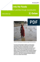 Six Months Into the Floods: Resetting Pakistan's priorities through reconstruction
