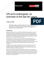 UN Arms Embargoes