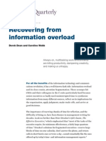 McKinsey - Recovering from Information Overload