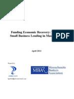 Mass. Community Banks Extend Small Business Lending