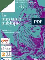 Colloque AFDA Grenoble la puissance publique Juin 2011